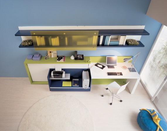 Kinderkamer kleine ruimte werkplek woonspiratie - Kinderkamer ruimte ...
